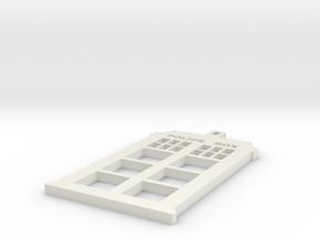 Tardis in White Natural Versatile Plastic