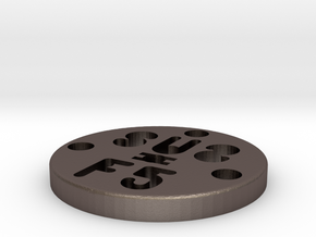 SUS Disc 3mmZ in Polished Bronzed Silver Steel