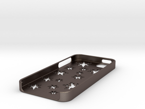 Snowflake iPhone 5 case in Polished Bronzed Silver Steel