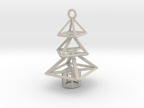 Modern Christmas Tree Earrings in Natural Sandstone