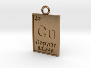 Copper Periodic Table Pendant in Natural Brass