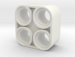 2x2 Liftarm in White Natural Versatile Plastic