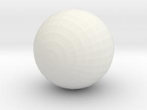 Bat Ball in White Natural Versatile Plastic