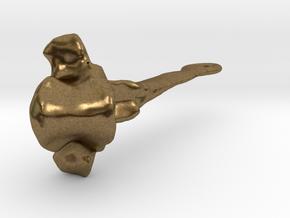 Vertebra 27mm With Loop in Natural Bronze