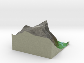 Terrafab generated model Fri Nov 01 2013 16:00:30  in Full Color Sandstone