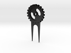 Gear Divot Tool in Matte Black Steel