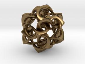 Icosahedron I, medium in Natural Bronze