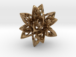 Dodecahedron X, medium in Natural Brass