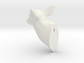 Trophy Head in White Strong & Flexible