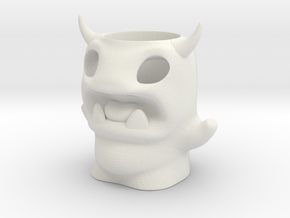 Devil Monster Pencil Pot in White Strong & Flexible