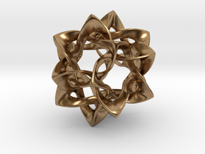 Icosahedron II, medium in Natural Brass
