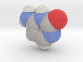 Cytosine molecule (x40,000,000, 1A = 4mm) in Full Color Sandstone