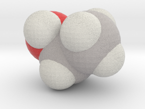 Ethanol molecule (x40,000,000, 1A = 4mm) in Full Color Sandstone