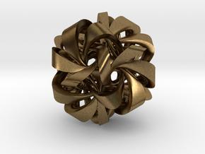 Icosahedron VII, medium in Natural Bronze