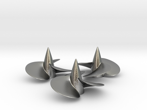 Three ship propellers f. Bismarck/Tirpitz 1/200 V2 in Natural Silver