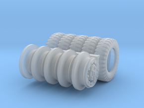 1/48 Dodge WC series wheels hollow in Smooth Fine Detail Plastic