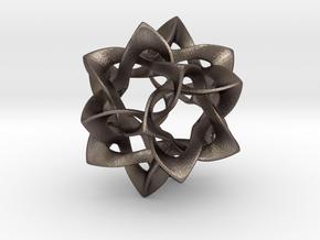 Icosahedron II, medium in Polished Bronzed Silver Steel