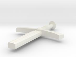 Halfsword in White Natural Versatile Plastic