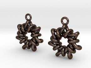 Torus1 Earrings in Polished Bronze Steel