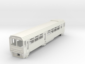 Mbxd2 Railcar - British TT scale 3mm/ft in White Natural Versatile Plastic