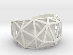Facetedcuff in White Natural Versatile Plastic