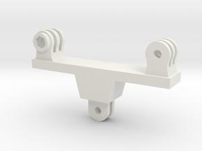 Dual GoPro Mount in White Natural Versatile Plastic