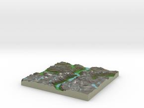 Terrafab generated model Mon Nov 11 2013 04:13:55  in Full Color Sandstone