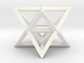 Tantric Star in White Processed Versatile Plastic