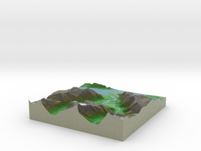Terrafab generated model Wed Nov 06 2013 18:36:16  in Full Color Sandstone