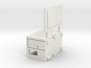 Kleiner Kassenwagen für 1:220 (z scale) in White Natural Versatile Plastic