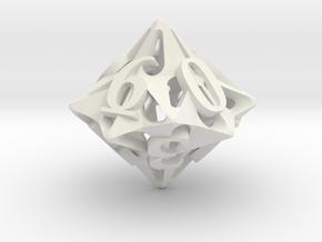 Pinwheel d10 Ornament in White Natural Versatile Plastic