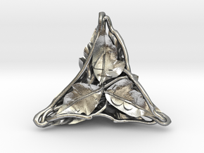 Botanical d4 Ornament in Natural Silver
