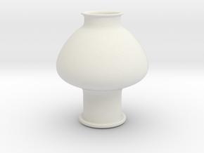 Greek Vase - Psykter - Closed/No Side Openings in White Natural Versatile Plastic