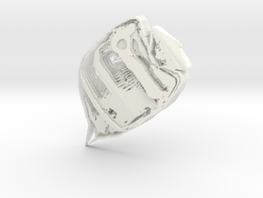 Butterflyfish1 in White Strong & Flexible Polished