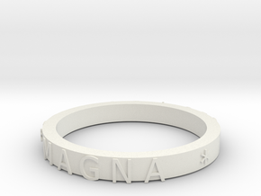 Uncharted Ring DONE in White Natural Versatile Plastic