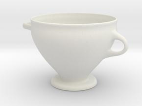 Greek Vase - Skyphos B in White Natural Versatile Plastic