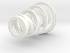 Spiral Candle Holder in White Processed Versatile Plastic