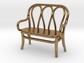 1:48 Bentwood Settee in Natural Brass