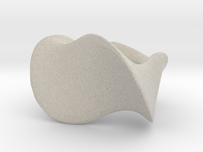 """""""Waves"""" ... Right Hand Ring . in Natural Sandstone"""