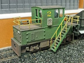 N-scale quench locomotive (RIGHT-hand version) in Smooth Fine Detail Plastic