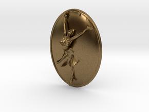 Joyful Dancer Small Pendant No Circle in Natural Bronze