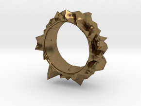 Facets Ring - Part 2 (Size 7) in Natural Bronze