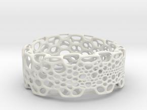 Subdivision Bracelet in White Natural Versatile Plastic