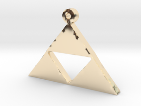 Triforce Pendent  in 14K Yellow Gold