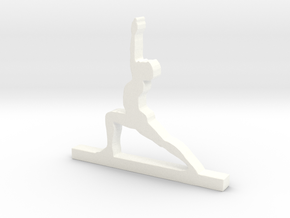 Yoga Pose in White Processed Versatile Plastic