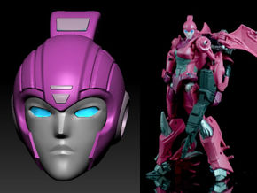 ARIEL homage Cyrene Head for RID Arcee in Smooth Fine Detail Plastic