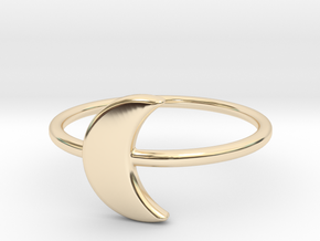 Midi Moon Ring by titbit in 14K Yellow Gold