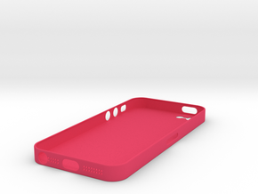 iPhone5 Case (0.7 mm thick) in Pink Strong & Flexible Polished