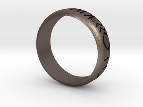 Etrusco Ring in Polished Bronzed Silver Steel