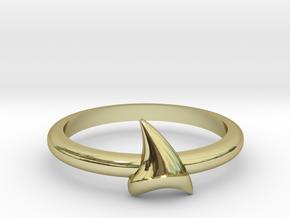 Shark Teeth in 18k Gold
